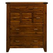 Rich Dark Acacia 'Elba' 6 drawer chest