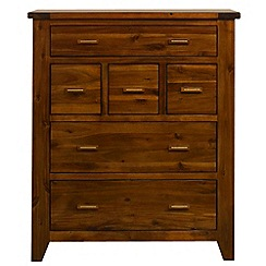 Debenhams - Acacia 'Elba' 6 drawer chest