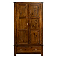 Debenhams - Acacia 'Elba' double wardrobe with drawer