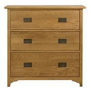 Oak 'Mitre' three drawer dresser
