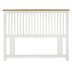 Debenhams - Oak and painted 'Burlington' headboard