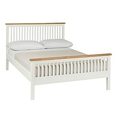 Debenhams - Oak and painted 'Burlington' bed frame