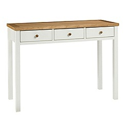 Debenhams - Oak and painted 'Burlington' dressing table