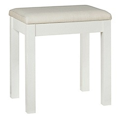 Debenhams - Soft white 'Burlington' stool