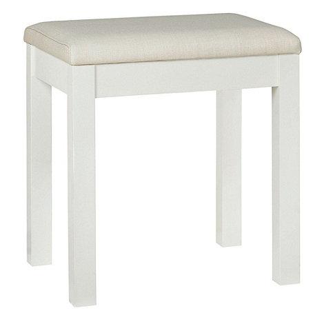 Debenhams - Soft white +Burlington+ stool