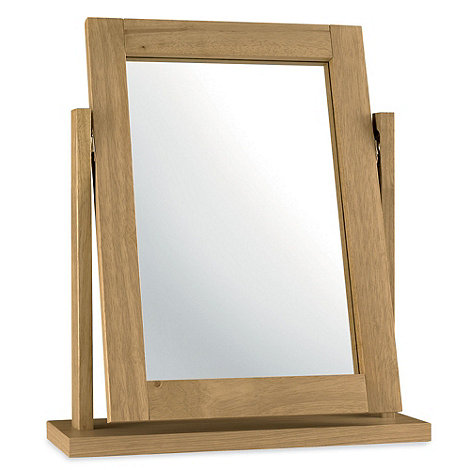 Debenhams - Oak finished +Burlington+ vanity mirror