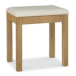 Debenhams - Oak finished 'Burlington' stool