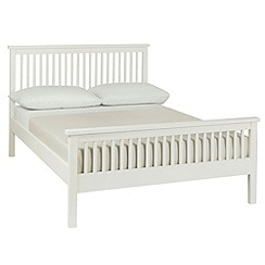 Debenhams - Soft white 'Burlington' bed frame