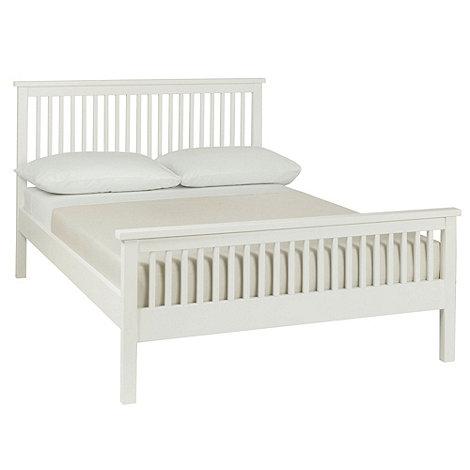 Debenhams - Soft white 'Burlington' bed frame