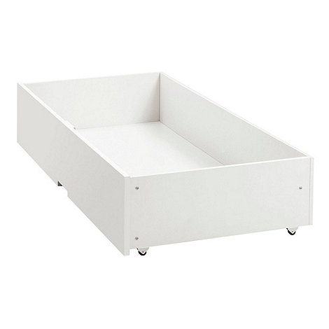 Debenhams - Soft white +Burlington+ under bed drawer