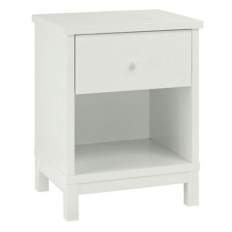 Debenhams - Soft white +Burlington+ bedside cabinet with single drawer