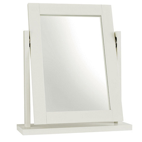 Debenhams - Soft white +Burlington+ vanity mirror