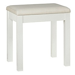 Debenhams Soft White Burlington Stool