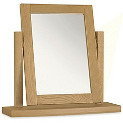 Debenhams - Oak 'Hampstead' vanity mirror