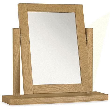 Debenhams - Oak +Hampstead+ vanity mirror