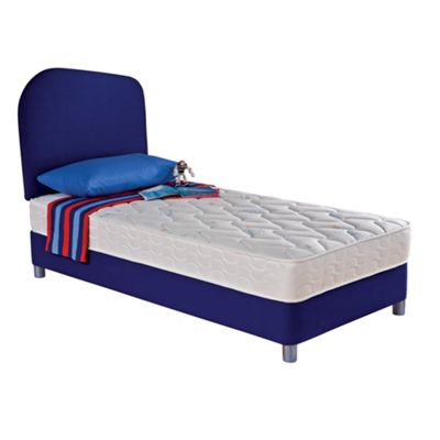 Junior blue Miracoil divan set and headboard