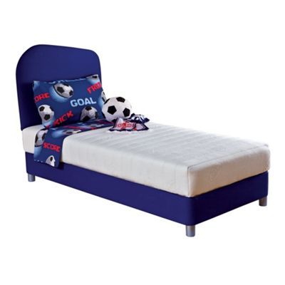 Junior blue Breatheasy divan set and headboard