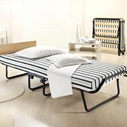 White stripe 'Welcome' guest bed set