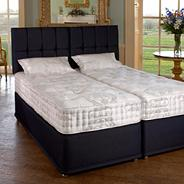 White 'Henley' firm tension mattress and blueberry divan bed set