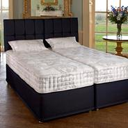 White 'Henley' medium tension mattress and blueberry divan bed set