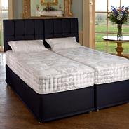 White 'Henley' soft tension mattress and blueberry divan bed set