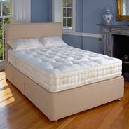 White 'Marlborough' medium tension mattress
