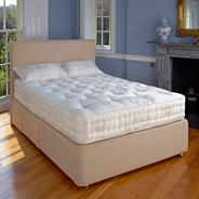 Cafe 'Marlborough' divan bed and medium tension mattress set