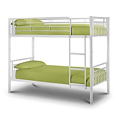 Debenhams - White 'Aron' bunk bed with 'Premier' mattresses