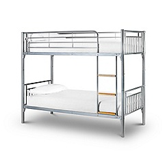 Debenhams - Steel 'Aron' bunk bed with 'Platinum' mattresses