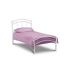 Debenhams - White 'Millie' bed frame with 'Deluxe' mattress