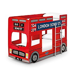 Julian Bowen - 'London Bus' bunk bed with 'Platinum' mattresses