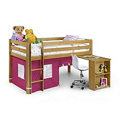 Debenhams - Pink 'Wendy' cabin bed with 'Premier' mattresses