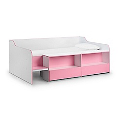 Debenhams - Pink 'Stella' single bed frame with 'Deluxe' mattress