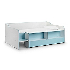Debenhams - Blue 'Stella' single bed frame with 'Deluxe' mattress