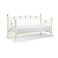 Debenhams - Stone white 'Sophie' day bed frame with 'Premier' mattress