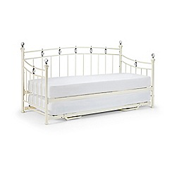 Debenhams - Stone white 'Sophie' day and guest bed frame and 'Platinum' mattresses