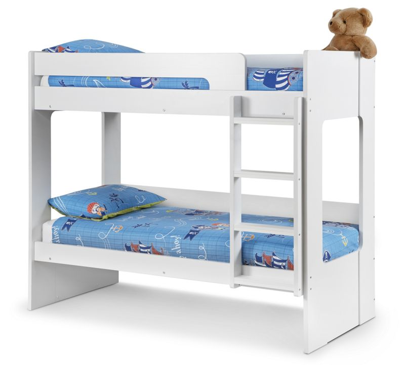Debenhams White Ellie bunk bed with Premier mattresses
