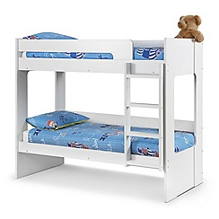 Debenhams White 'Ellie' bunk bed with 'Deluxe' mattresses