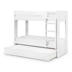 Debenhams - White 'Ellie' bunk bed with drawer