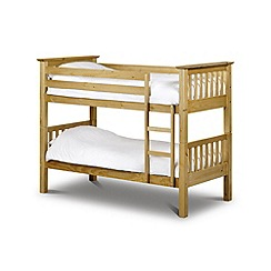 Debenhams - Pine 'Barcelona' bunk bed with 'Premier' mattresses