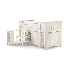 Julian Bowen - Soft white 'Barcelona' right-hand facing sleep station with 'Platinum' mattress