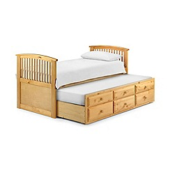 Julian Bowen - Pine 'Hornblower' single bed frame with guest bed and 'Platinum' mattresses