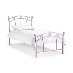 Julian Bowen - Pink 'Jemima' bed with 'Deluxe' mattress