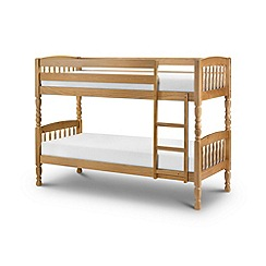 Julian Bowen - Pine 'Lincoln' bunk bed with 'Premier' mattresses