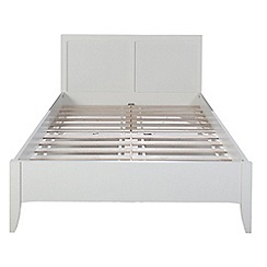 Debenhams - White 'Epsom' bed frame