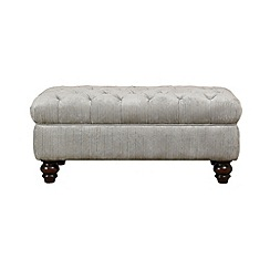 Debenhams - Velour 'Chesterfield' footstool