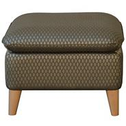 Grey geometric 'Hove Deluxe' stool
