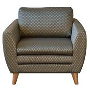 Grey geometric 'Hove Deluxe' chair