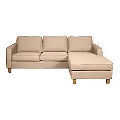 Debenhams - 'Dante' right-hand facing chaise corner sofa
