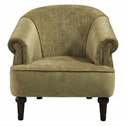 Fawn coloured 'Chesterfield' armchair